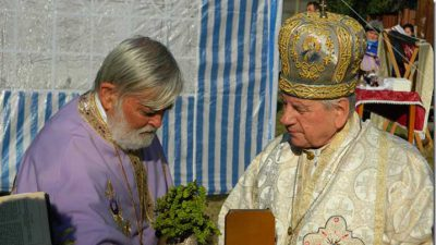 PS Alexandru Mesian - sfințire loc biserică