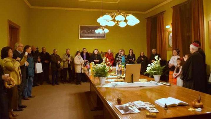 Colindători la Episcopia și Catedrala Greco-Catolică din Cluj-Napoca