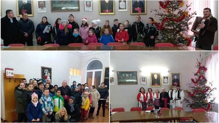 Colindatori la Palatul Episcopal din Lugoj