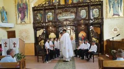 Prima Sfântă Împărtăşanie Solemnă în Parohia Greco-Catolică Marghita