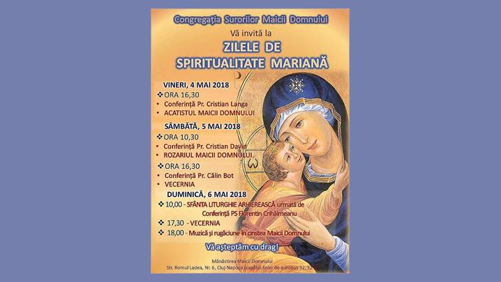 Anunț: Ediția a XI-a a Zilelor de Spiritualitate Mariană