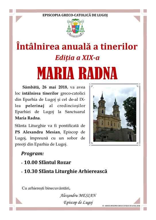 Întalnirea anuală a tinerilor din Eparhia de Lugoj