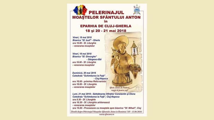 Pelerinajul moaștelor Sfântului Anton în Eparhia de Cluj-Gherla