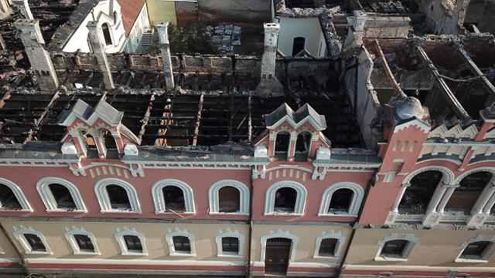Încep lucrările de reabilitare a Palatului Episcopal Greco-Catolic din Oradea, afectat de incendiu