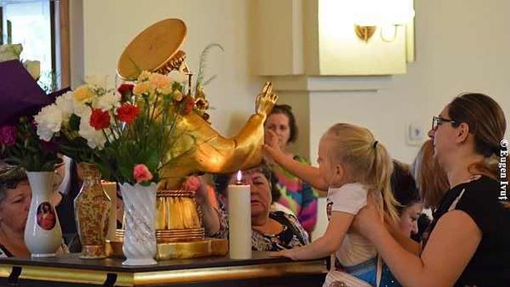Relicva cu moaștele Sfântului Anton la Oradea