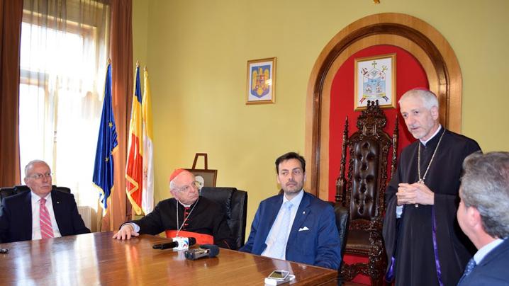 Vizita la Cluj a Cardinalului Francesco Monterisi, la inaugurarea Filialei clujene a Academiei Internaționale Mauriziana