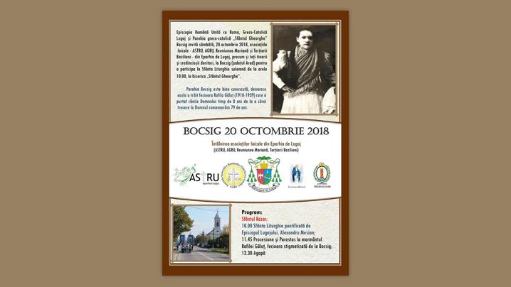 Pelerinaj la Bocsig în data de 20 octombrie 2018
