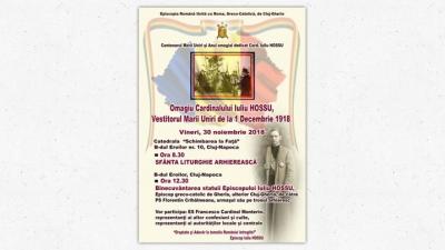Anunț: Omagiu Cardinalului Iuliu Hossu la Cluj