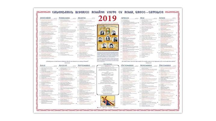 Arhieparhia de Alba Iulia și Făgăraș. Au apărut calendarele pentru anul 2019