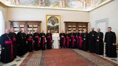 Episcopii catolici din România în audiență la Papa Francisc