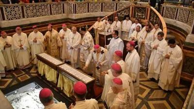 """Sfânta Liturghie celebrată de Episcopii catolici din România în Bazilica """"Sfântul Pavel în afara zidurilor"""""""