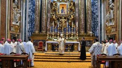 """Sfânta Liturghie celebrată de Episcopii din România în Bazilica """"Santa Maria Maggiore"""""""