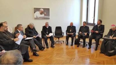 Vizita Episcopilor catolici din România la Dicasterul pentru comunicare al Sfântului Scaun