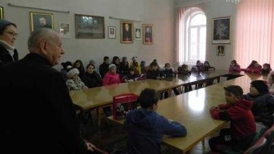 Colindători la Palatul Episcopal din Lugoj