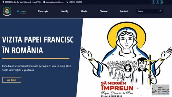 Episcopia Română Unită cu Roma, Greco-Catolică de Lugoj lansează site-ul oficial