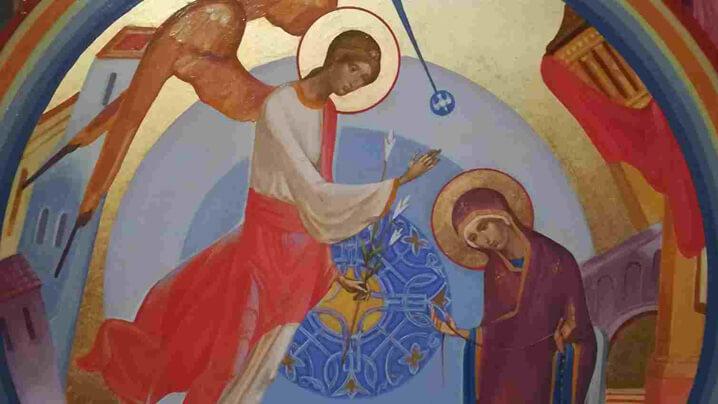 Sărbătoarea Buneivestiri în catedrala din București