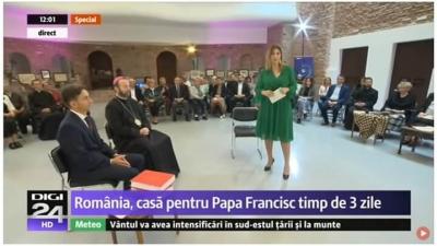 Ediție specială Digi24 dedicată vizitei Papei Francisc la Blaj