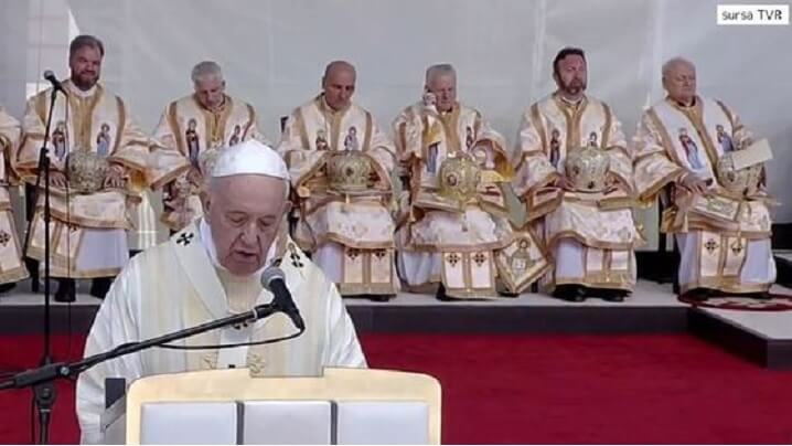 Predica Papei Francisc la Sfânta Liturghie de pe Câmpia Libertății de la Blaj