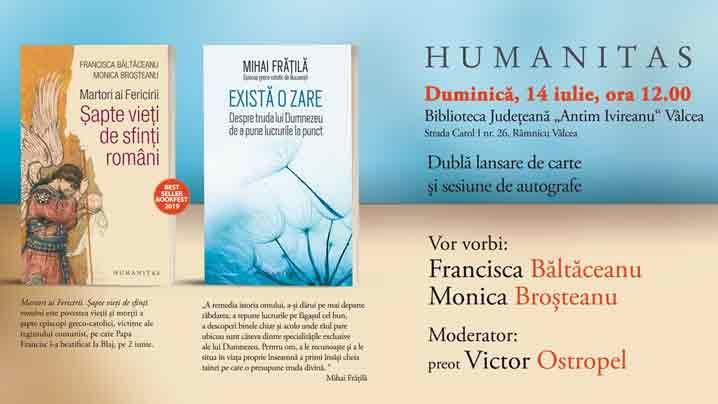 Dublă lansare de carte la Râmnicu Vâlcea