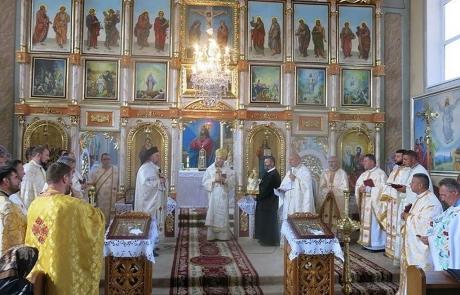 Participare din România la sărbătoarea parohiei greco-catolice din Apșa de Mijloc, Ucraina