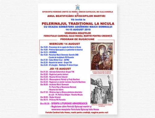 Anunț: Pelerinajul greco-catolic la Nicula, la Sfânta Marie Mare