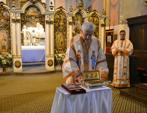 """Moaștele Fericitului Episcop Iuliu Hossu şi ale Fericiţilor Episcopi martiri venerate  în Catedrala """"Schimbarea la Față"""" din Cluj"""
