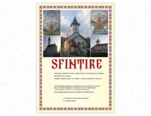 Anunț: Se scrie istorie în localitatea Șanț prin sfințirea noii biserici greco-catolice