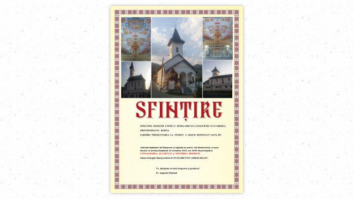 Se scrie istorie în localitatea Șanț prin sfințirea noii biserici greco-catolice