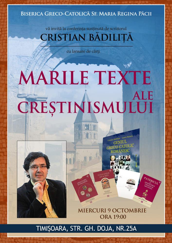 Conferință și lansare de carte – Cristian Bădiliță