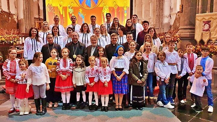 Vizita PS Claudiu în comunitatea greco-catolică română de la Bruxelles