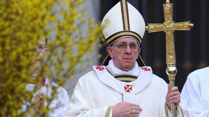 Învierea Domnului cu Papa Francisc, în direct la Televiziunea Română