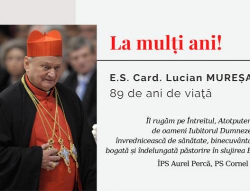 IPS Aurel Percă și PS Cornel Damian l-au felicitat pe Card. Lucian Mureșan, la 89 de ani de viață