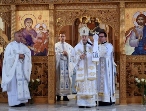Binecuvântarea de către PS Florentin a picturilor Fericiților Episcopi martiri
