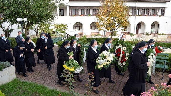 La trecerea la Cer a sorei Ligia din Congregația Surorilor Maicii Domnului