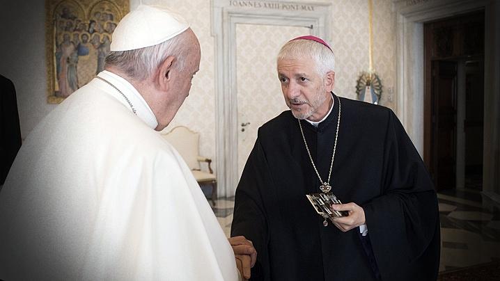Mesajul Sfântului Părinte Papa Francisc la înmormântarea PS Florentin Crihălmeanu