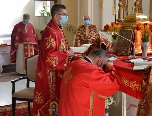 Sărbătoarea Sfântului Gheorghe: Hirotoniri de preot și diacon în Catedrala Blajului