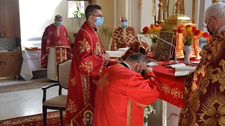 Sărbătoarea Sfântului Gheorghe Hirotoniri de preot și diacon în Catedrala Blajului