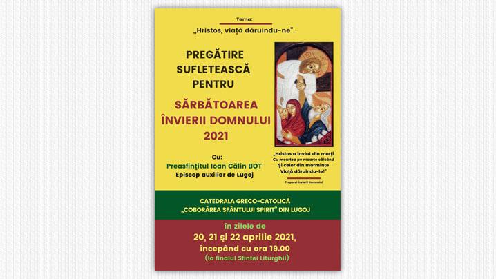 Pregătire sufletească pentru Sărbătoarea Învierii Domnului, în Catedrala Lugojului