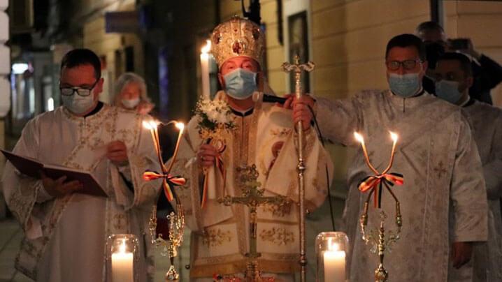 Utrenia Învierii la Catedrala din Cluj, cu PS Claudiu, noul Episcop de Cluj-Gherla