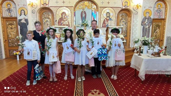 Prima Sfântă Împărtășanie solemnă în Parohia Alba Iulia II