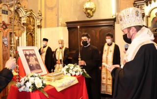 Relicvariul cu moaștele Cardinalului Iuliu Hossu la Catedrala din Cluj