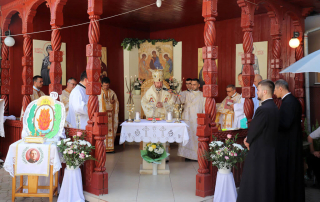 """Hramul mănăstirii """"Sfânta Macrina"""" sărbătorit în prezența PS Claudiu"""