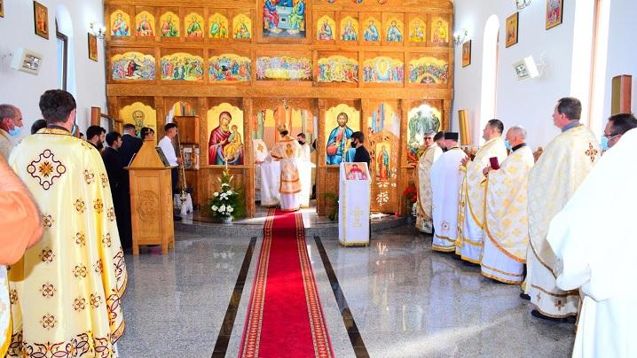 Sfințirea bisericii greco-catolice din Cătina