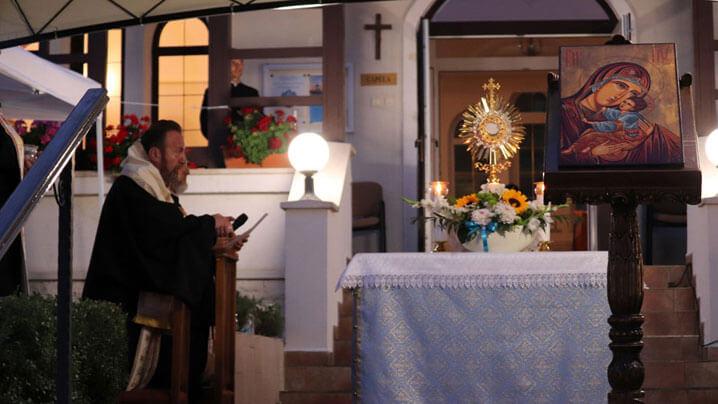 Seară a luminii la mănăstirea Maicii Domnului din Cluj